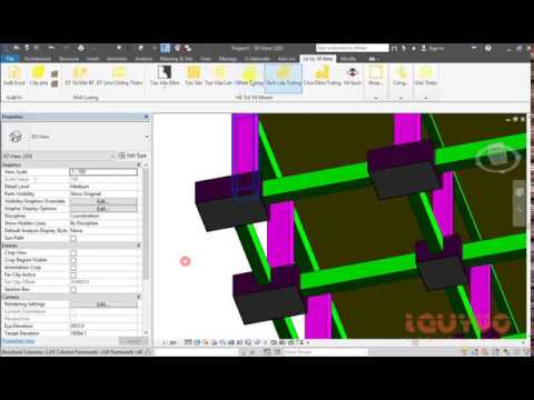 Vẽ cốp pha tự động trong Revit - Modeling Formwork automatically in Revit